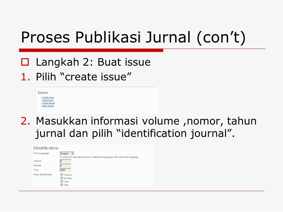Proses Publikasi Jurnal (con't)