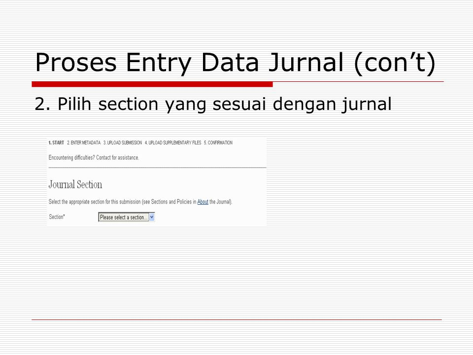 Proses Entry Data Jurnal (con't)