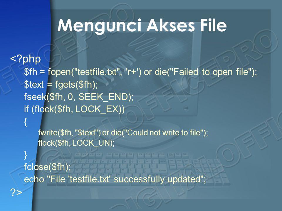 Mengunci Akses File < php >