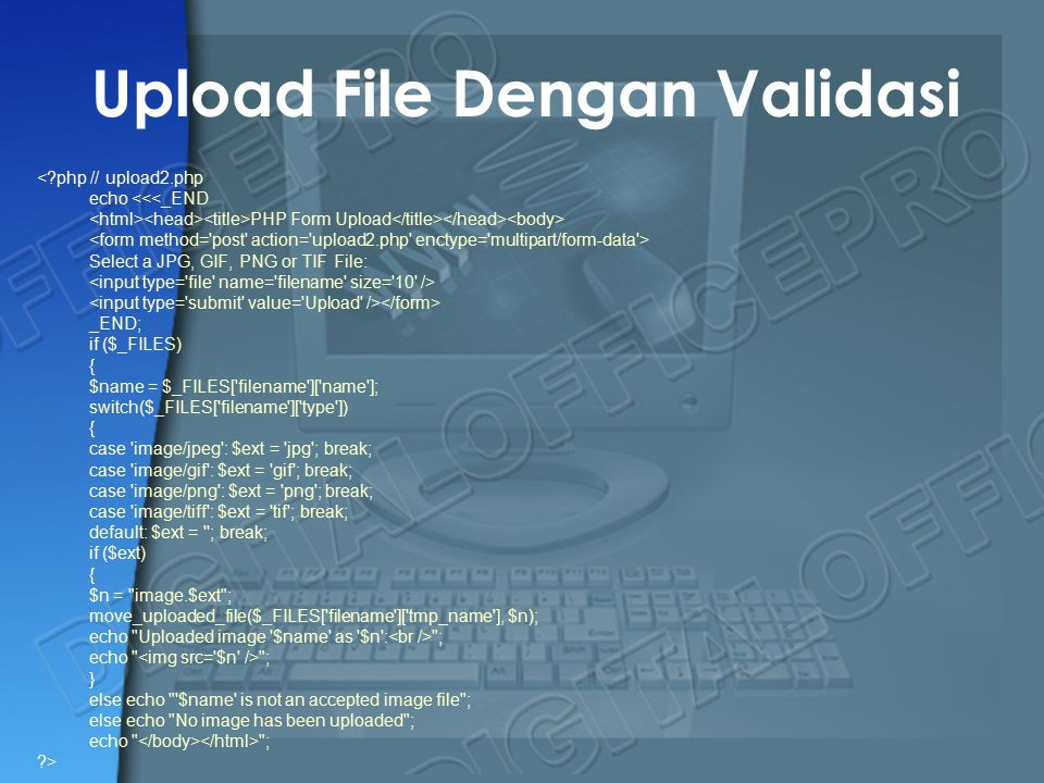 Upload File Dengan Validasi