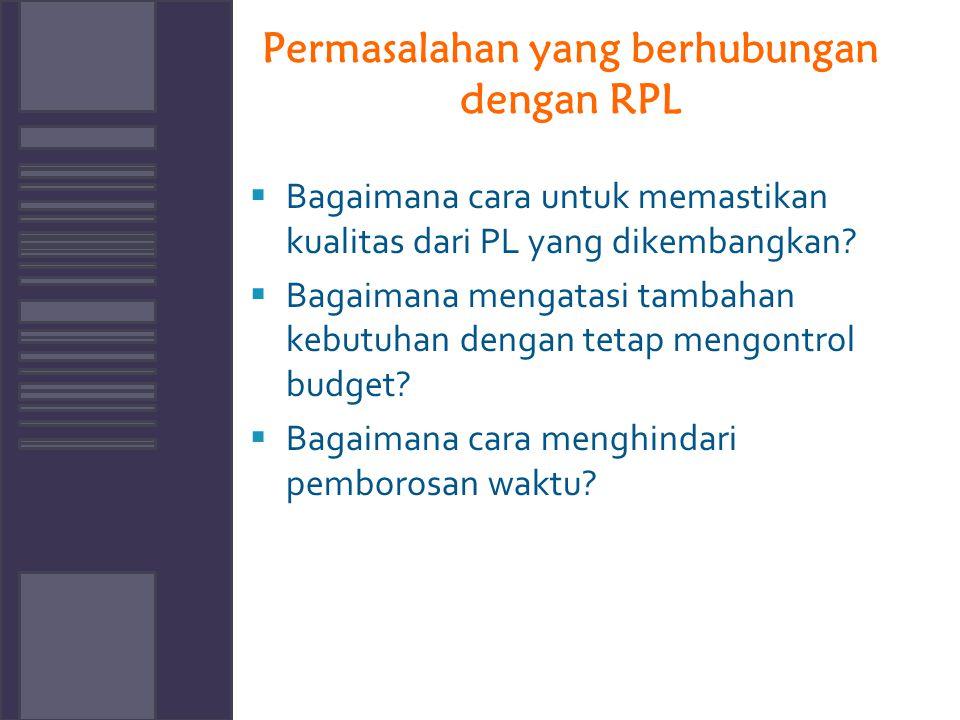 Permasalahan yang berhubungan dengan RPL