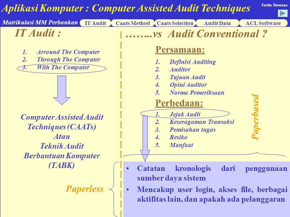 ……..vs Audit Conventional
