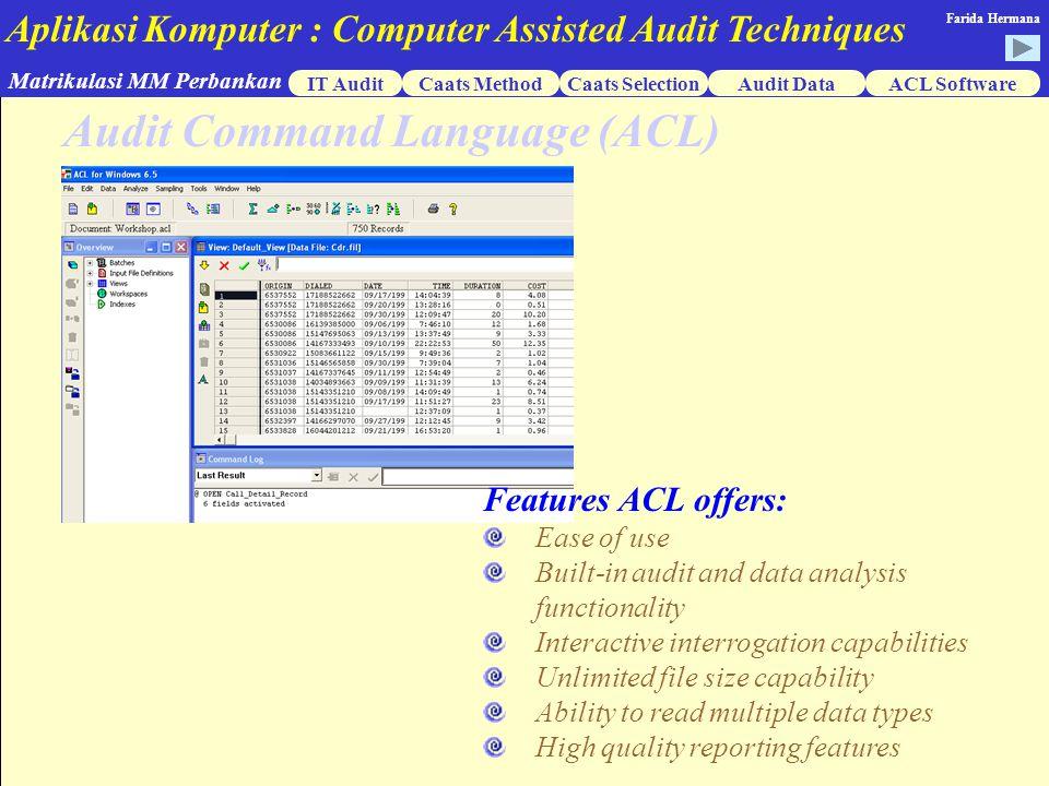 Audit Command Language (ACL)