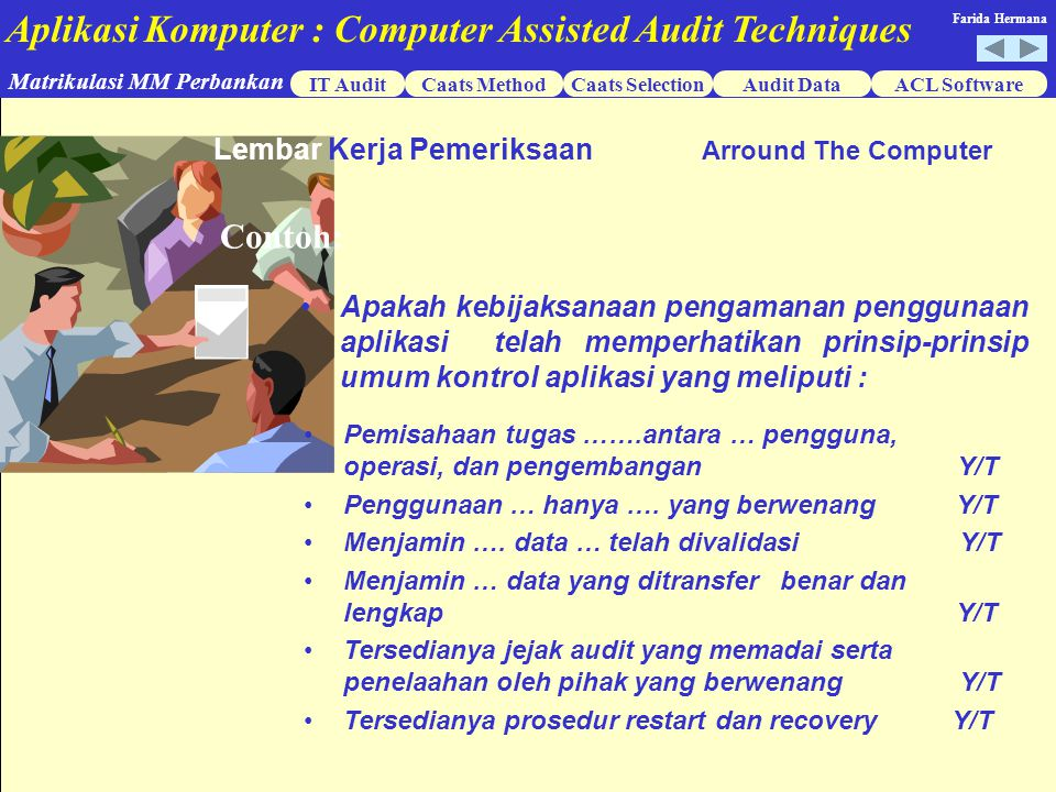 Contoh: Lembar Kerja Pemeriksaan