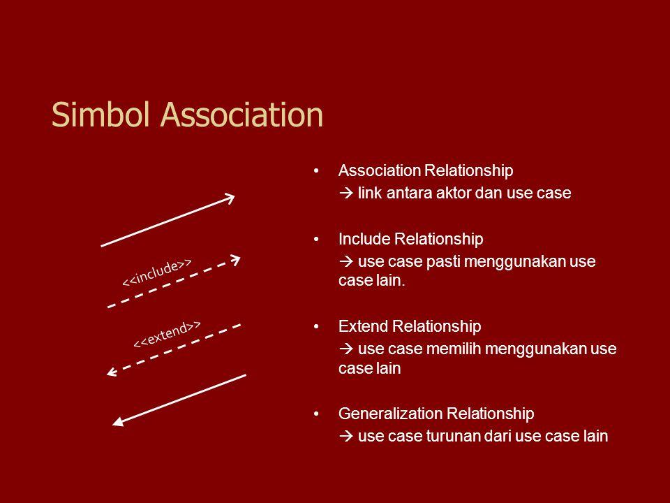 Simbol Association Association Relationship