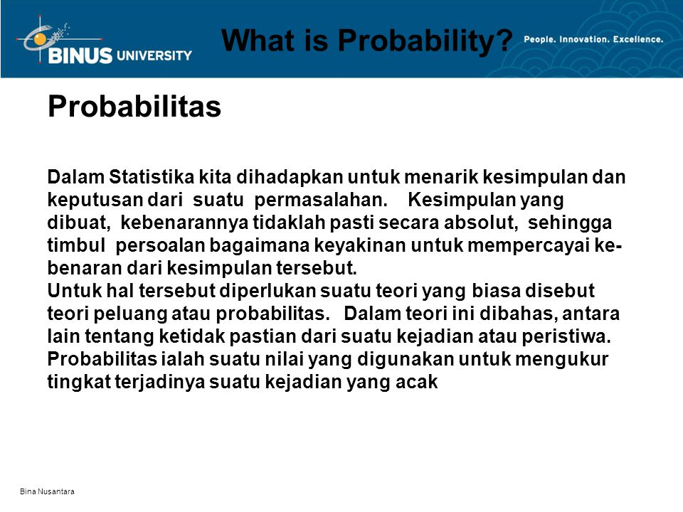 What is Probability Probabilitas
