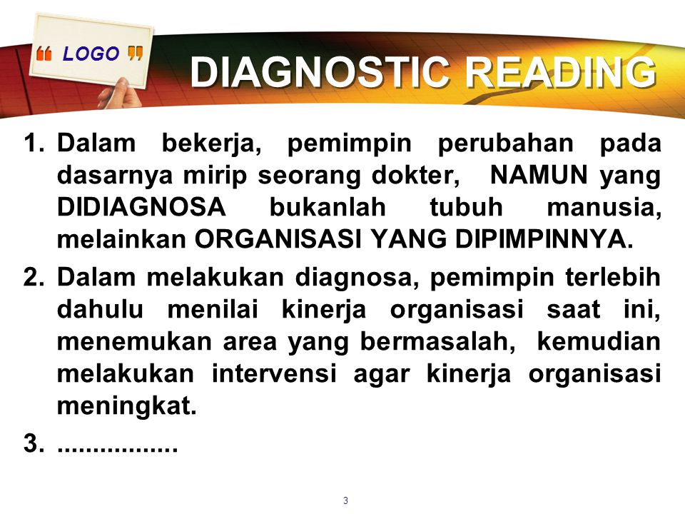 DIAGNOSTIC READING