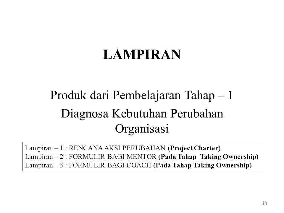 LAMPIRAN Produk dari Pembelajaran Tahap – 1