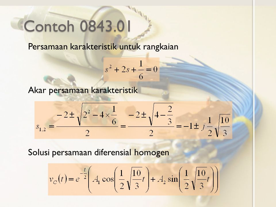 Contoh 0843.01 Persamaan karakteristik untuk rangkaian