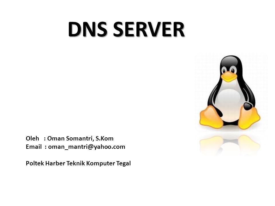 DNS SERVER Oleh : Oman Somantri, S.Kom