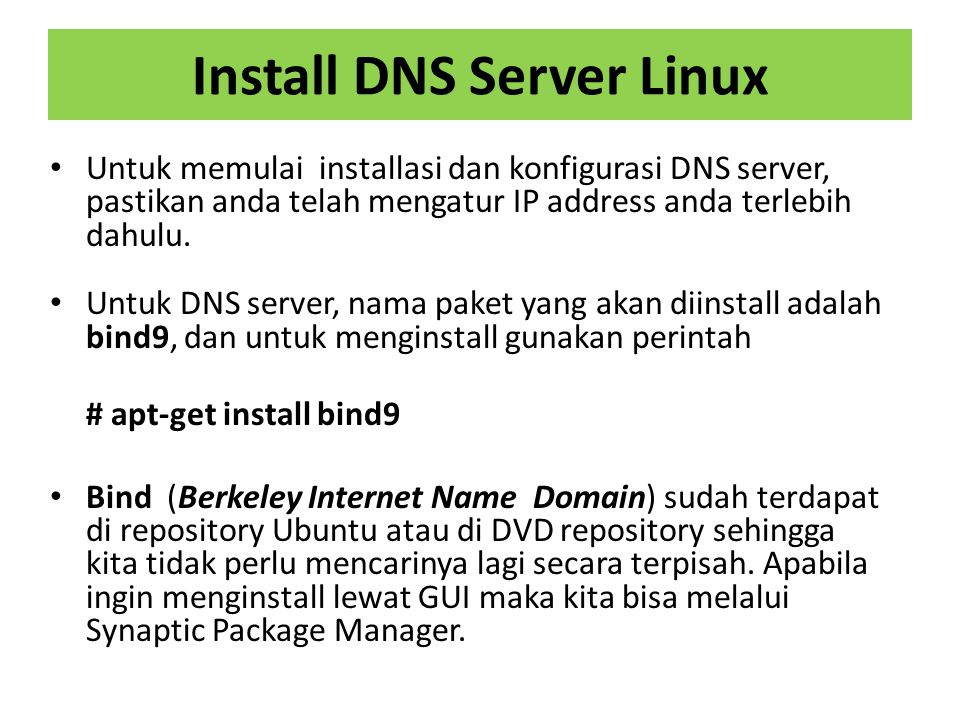 Install DNS Server Linux
