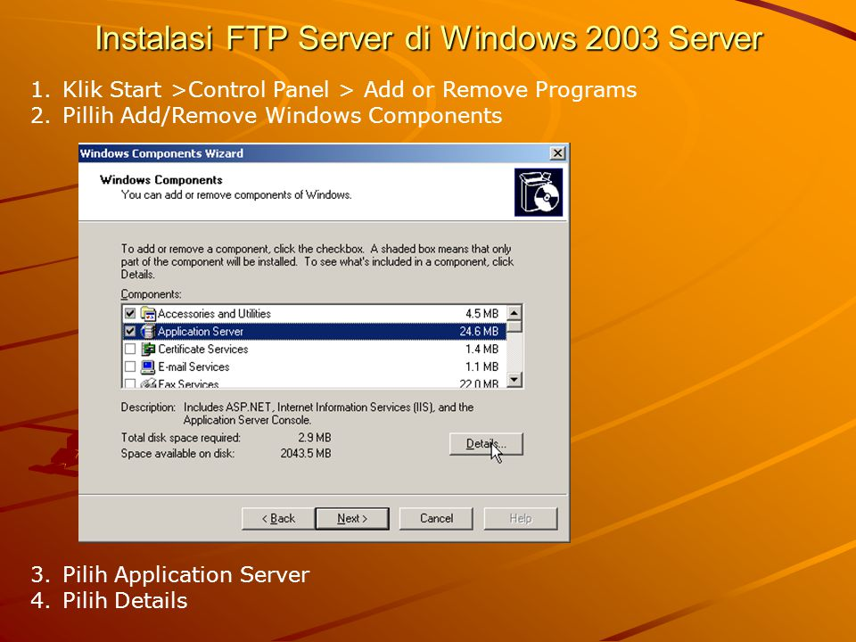 Instalasi FTP Server di Windows 2003 Server