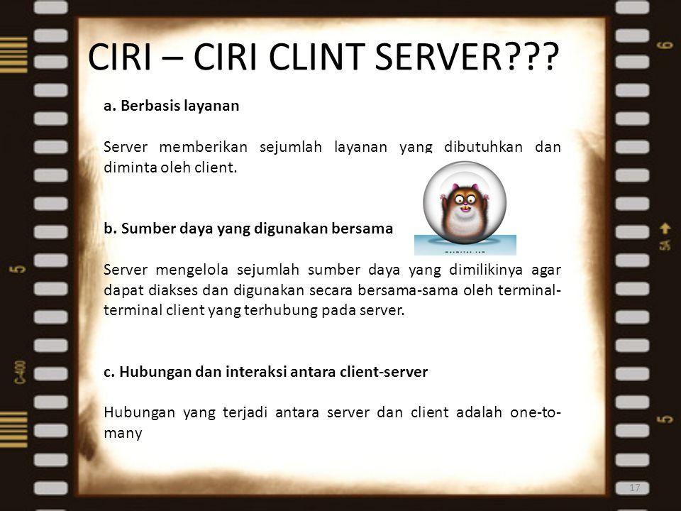 CIRI – CIRI CLINT SERVER