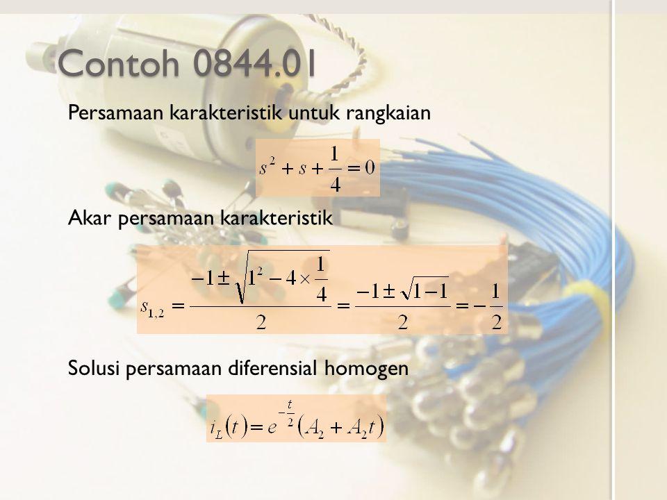 Contoh 0844.01 Persamaan karakteristik untuk rangkaian