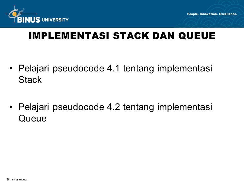 IMPLEMENTASI STACK DAN QUEUE