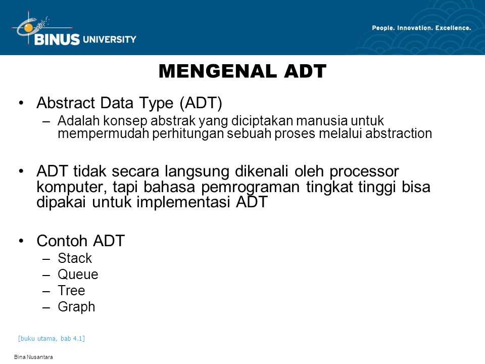 MENGENAL ADT Abstract Data Type (ADT)