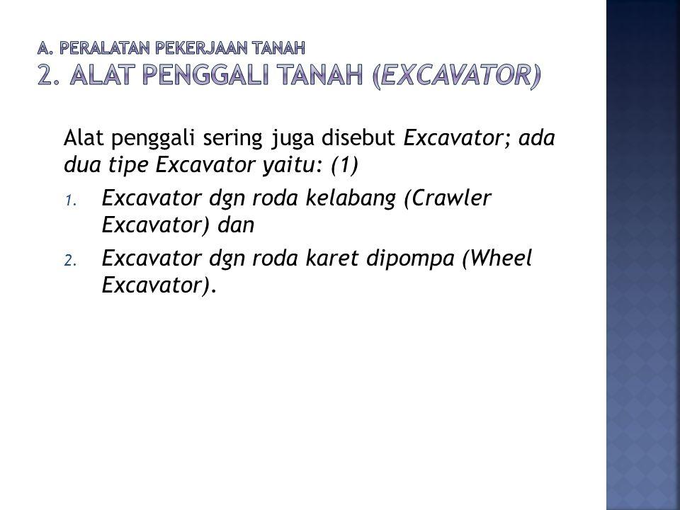 a. Peralatan Pekerjaan Tanah 2. Alat Penggali Tanah (Excavator)