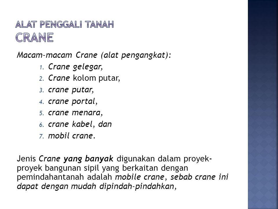 Alat penggali tanah crane