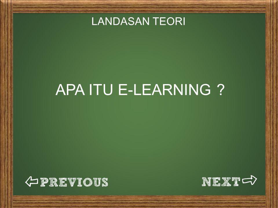 LANDASAN TEORI APA ITU E-LEARNING