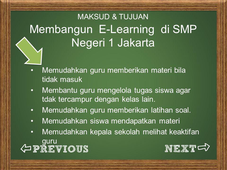 Membangun E-Learning di SMP Negeri 1 Jakarta
