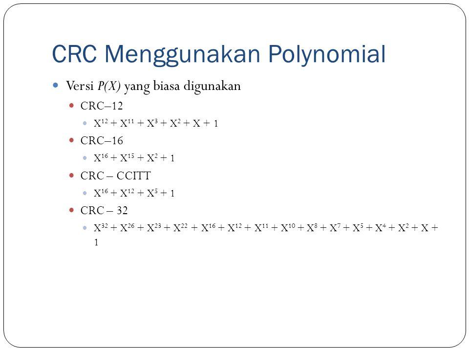 CRC Menggunakan Polynomial