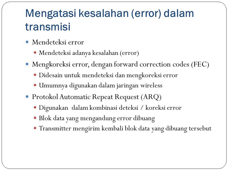 Mengatasi kesalahan (error) dalam transmisi