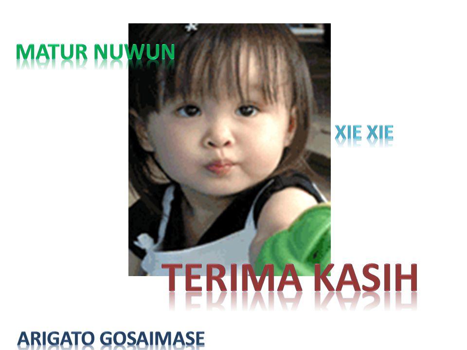 Matur Nuwun Xie Xie Terima kasih Arigato Gosaimase