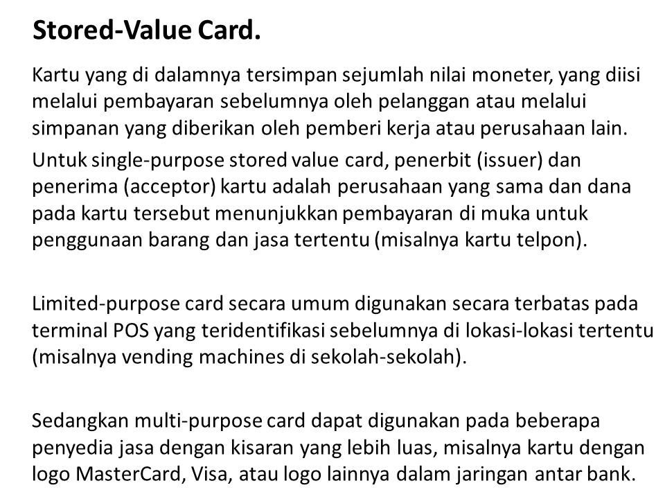 Stored-Value Card.