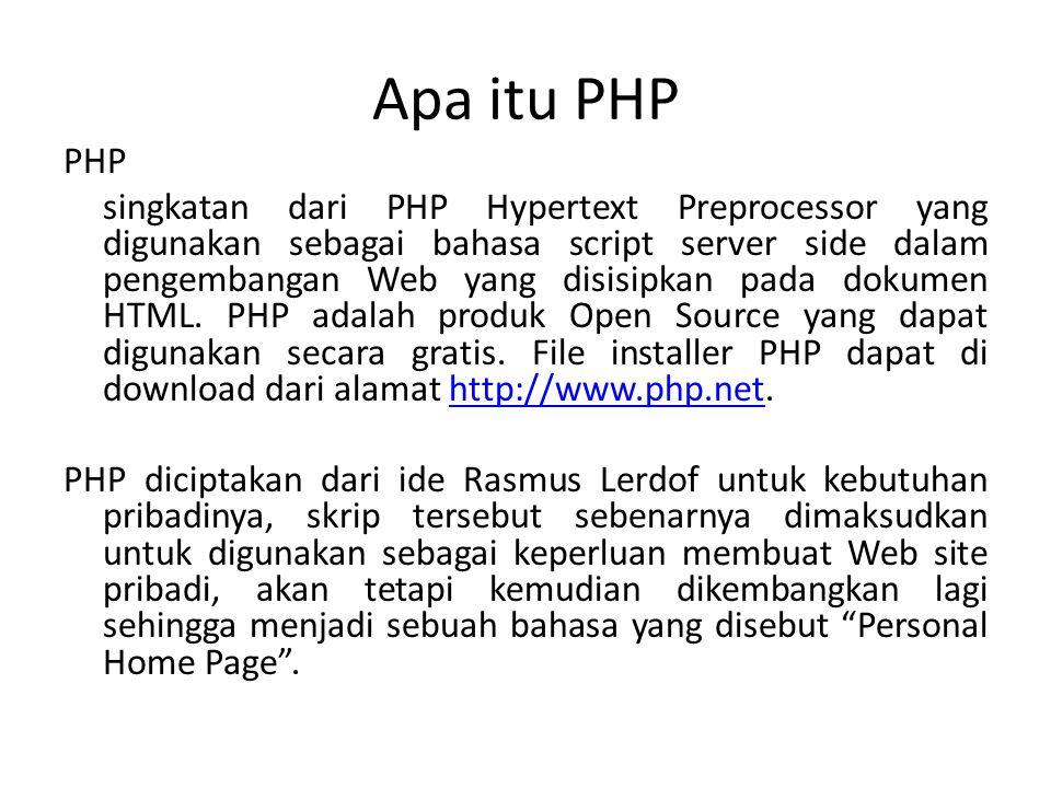 Apa itu PHP