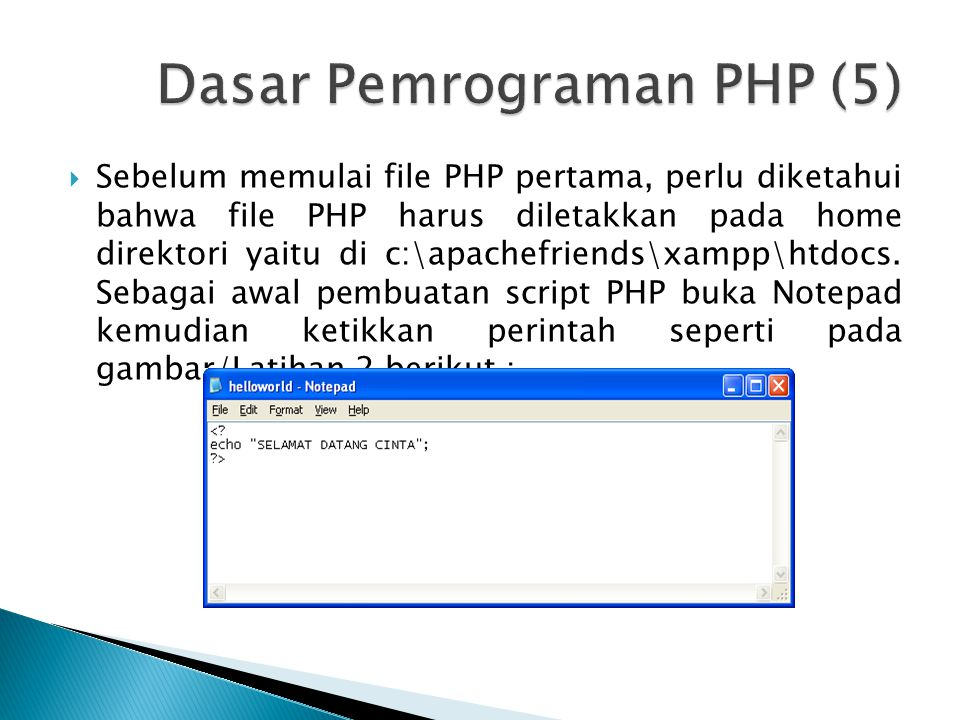 Dasar Pemrograman PHP (5)