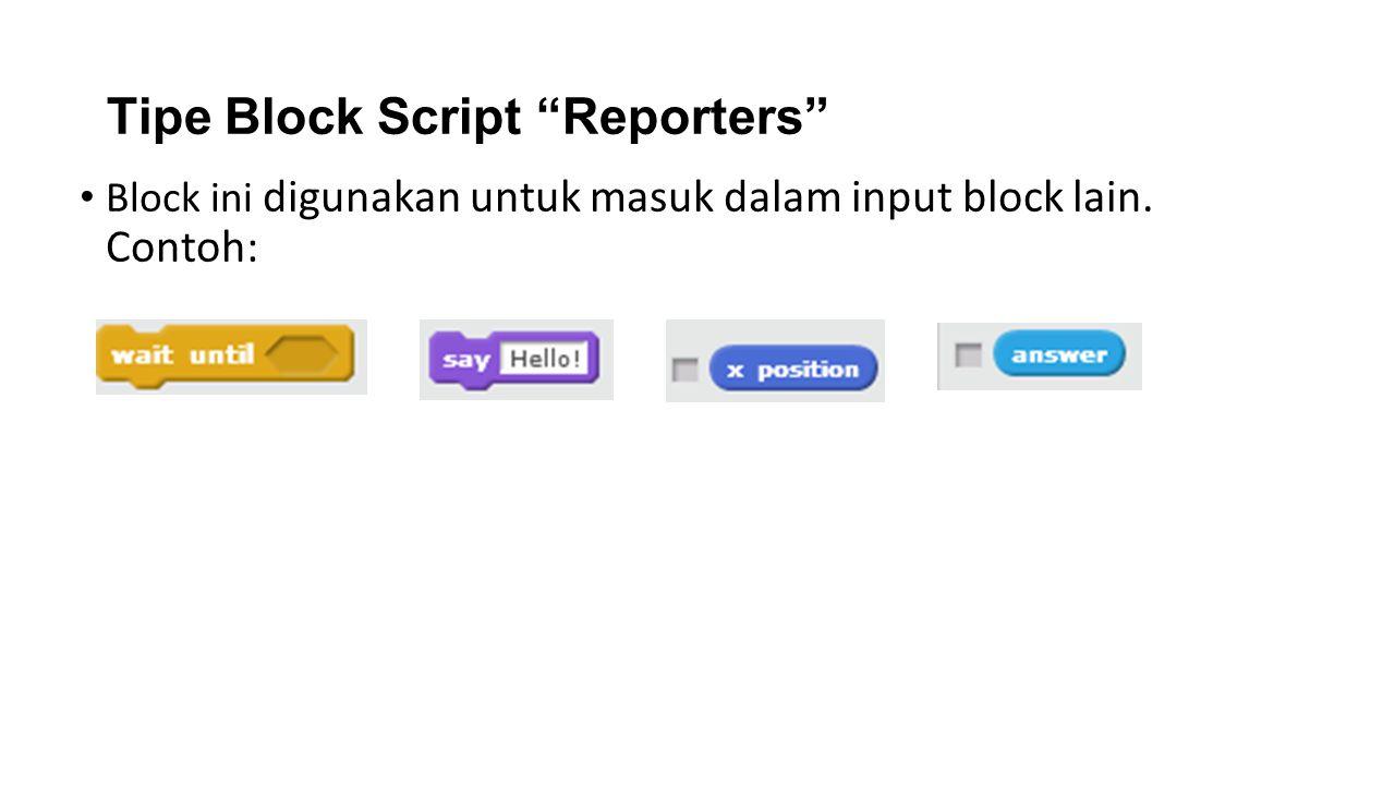 Tipe Block Script Reporters