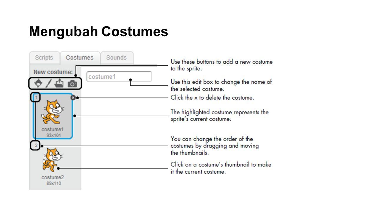 Mengubah Costumes