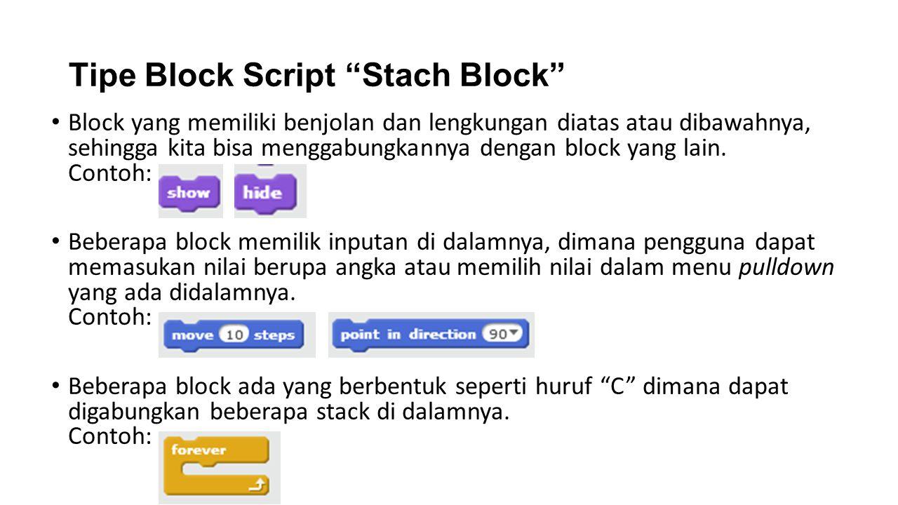 Tipe Block Script Stach Block