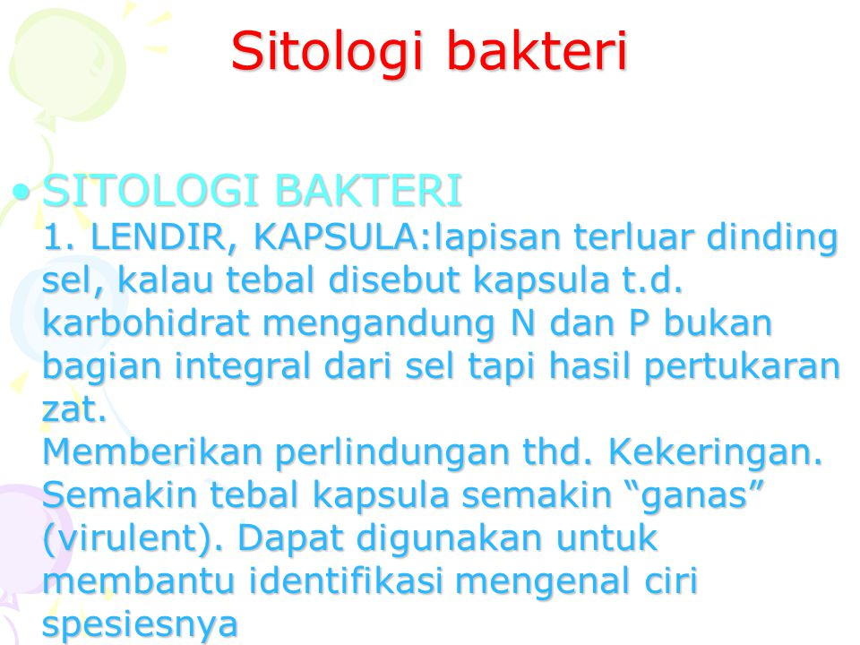 Sitologi bakteri