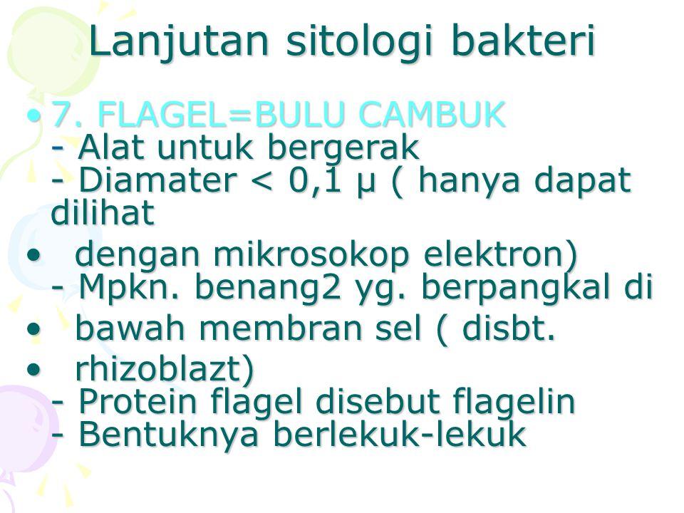 Lanjutan sitologi bakteri
