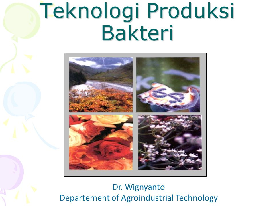 Teknologi Produksi Bakteri