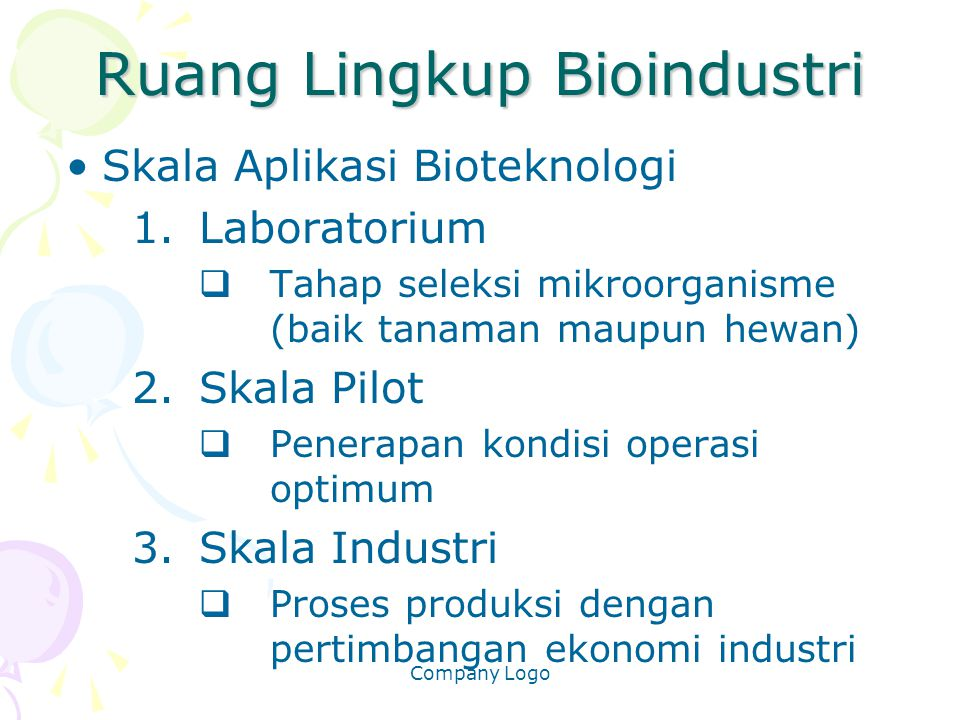 Ruang Lingkup Bioindustri