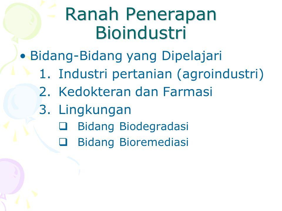 Ranah Penerapan Bioindustri