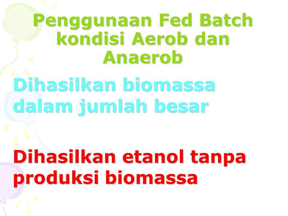 Penggunaan Fed Batch kondisi Aerob dan Anaerob
