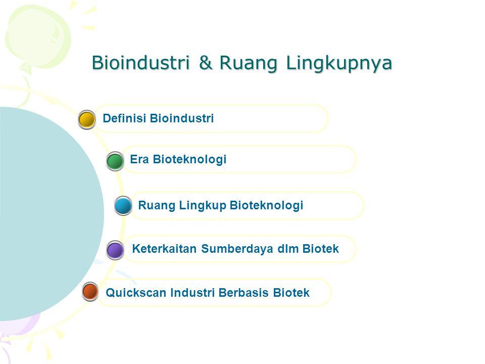 Bioindustri & Ruang Lingkupnya