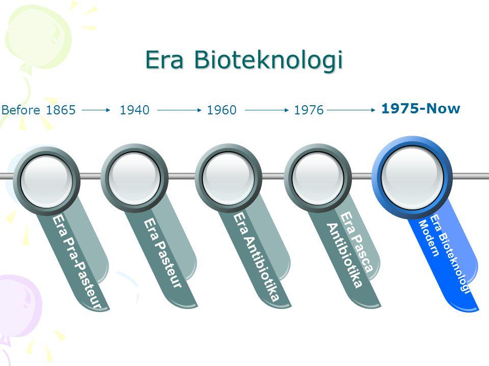 Era Bioteknologi 1975-Now Era Pasca Antibiotika Era Pasteur