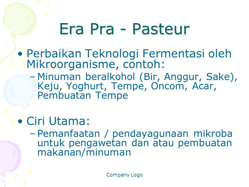 Era Pra - Pasteur Perbaikan Teknologi Fermentasi oleh Mikroorganisme, contoh: