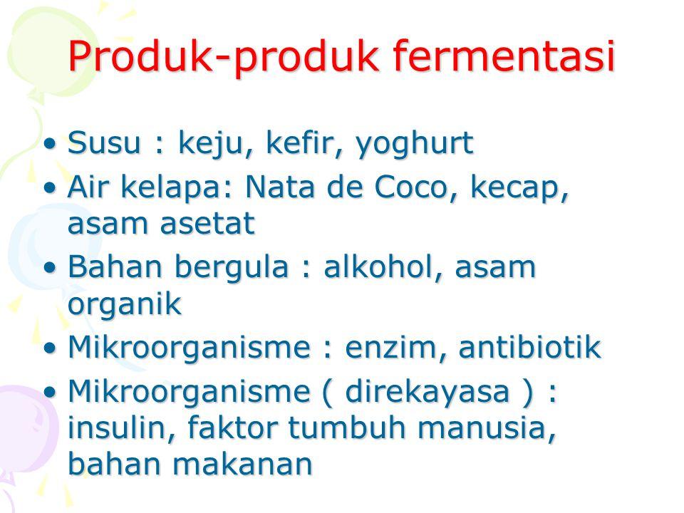 Produk-produk fermentasi