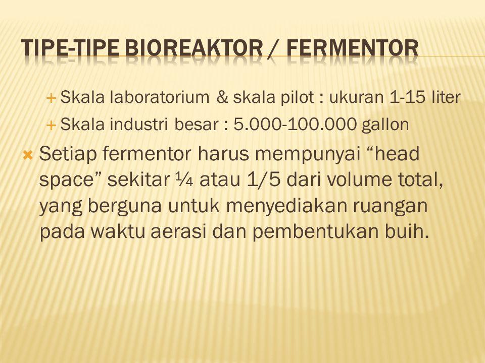 TIPE-TIPE BIOREAKTOR / FERMENTOR