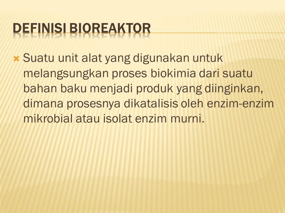 DEFINISI BIOREAKTOR