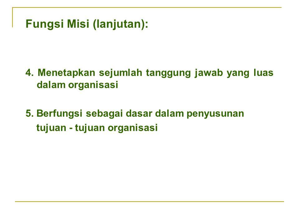 Fungsi Misi (lanjutan):