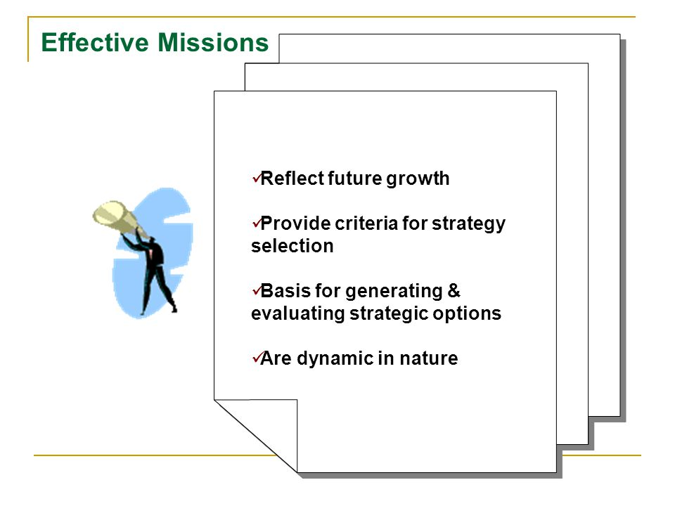 Effective Missions Reflect future growth