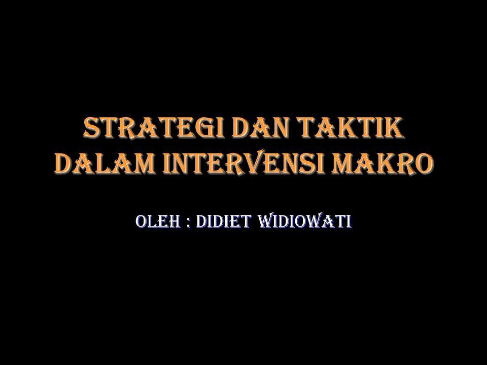 Strategi dan taktik dalam Intervensi Makro
