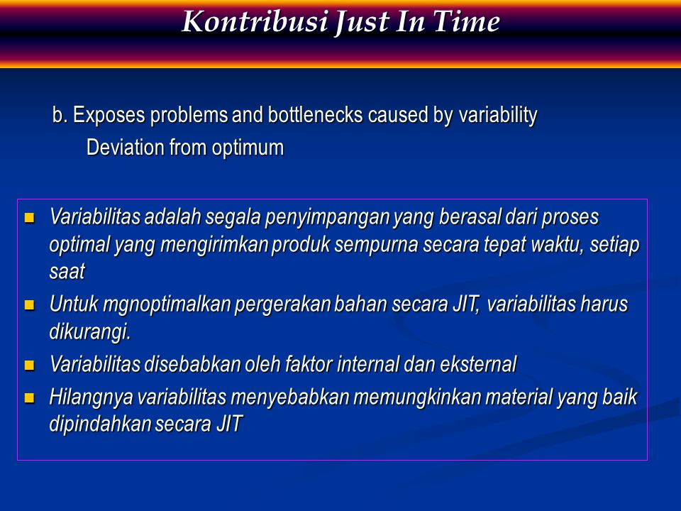 Kontribusi Just In Time
