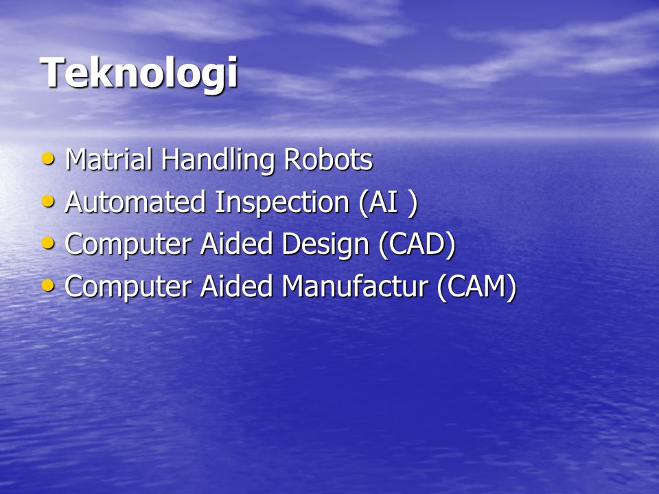 Teknologi Matrial Handling Robots Automated Inspection (AI )
